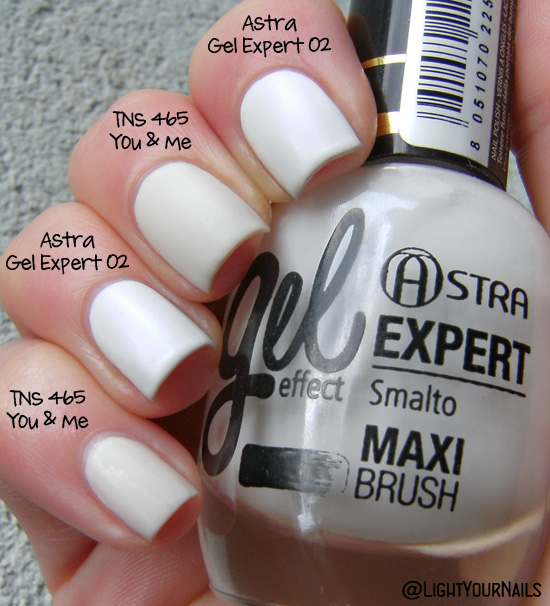 TNS 465 You & Me vs Astra Gel Expert Effect 02 Neige