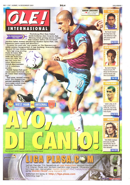 WEST HAM VS ARSENAL DI CANIO