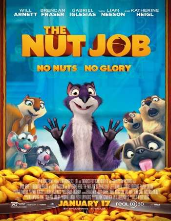 Poster Of The Nut Job 2014 Dual Audio 350MB BRRip 720p ESubs HEVC Free Download Watch Online Worldfree4u