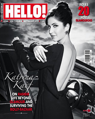 Katrina Kaif on the cover of Hello! India's Most Glamorous September 2013 issue