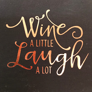 Silhouette Design Store - Wine a little, laugh a lot citat