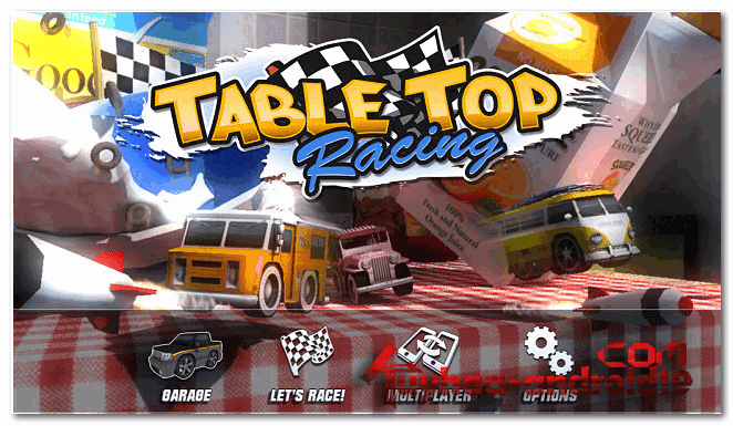 Table Top Racing 1.0.5 Mod Money For android Plus Data