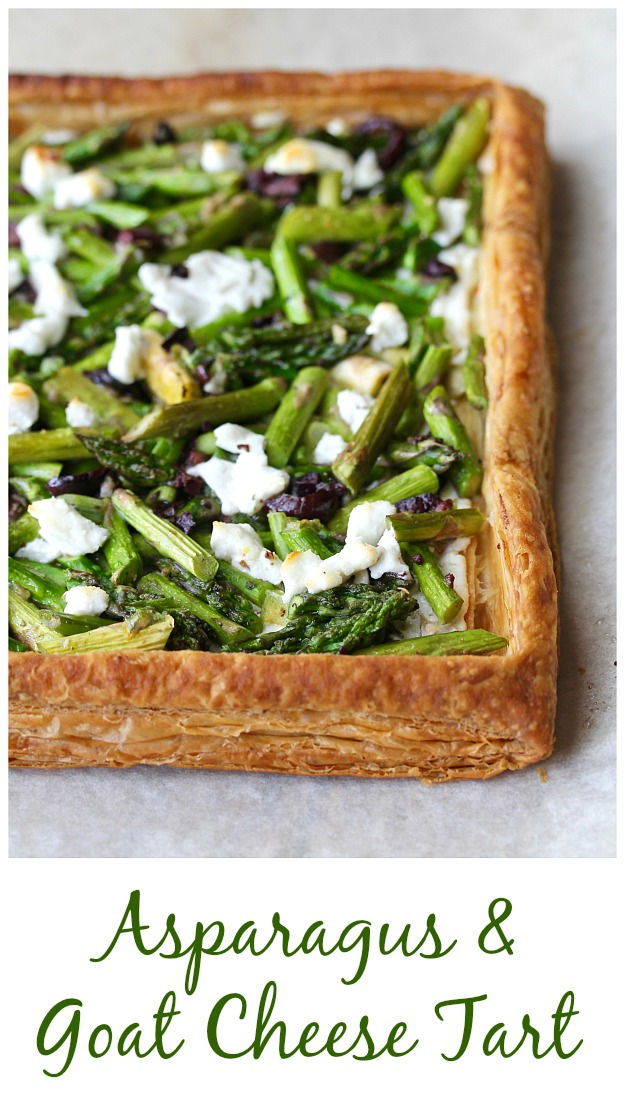 Asparagus and Goat Cheese Tart #asparagus #tart #goatcheese