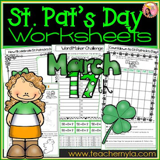 St. Patrick's Day third grade worksheets