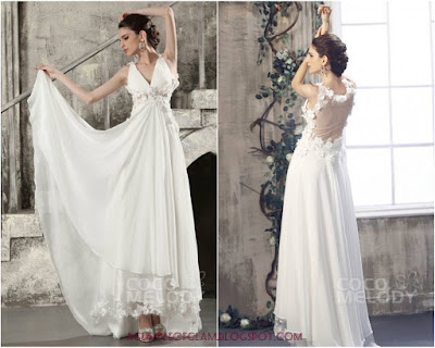 Cocomelody wedding gown with back interest Andrea Tiffany aglimpseofglam