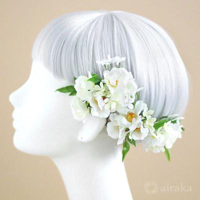 ジャスミンの髪飾り-ウェディングブーケと花髪飾りairaka