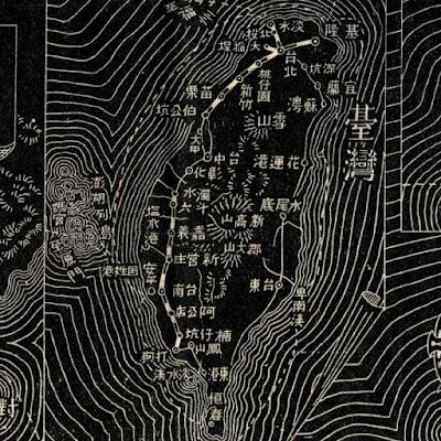 04 明治38年(1905)大日本汽車線路略図 台湾