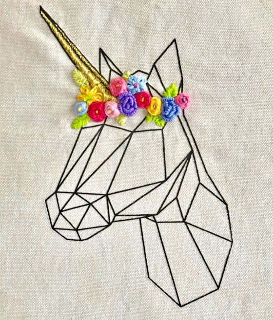 UNICORNIO BORDADO - Handbox Craft Lovers | Comunidad DIY, Tutoriales ...