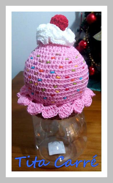 Bomboniere Big CupCake em crochet