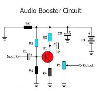 Audio Booster circuit tone booster