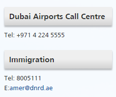 dubai airports call enter immigration email id
