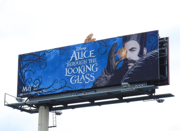 Alice through the Looking Glass Time billboard