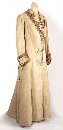 Casaco da moda na década 1910