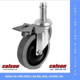 Bánh xe đẩy cao su Performa dẫn điện chịu tải trọng 114kg www.banhxepu.net