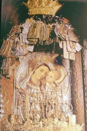 The icon of the Virgin Mary.