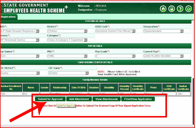 Employee health card registraiton APPLICATION