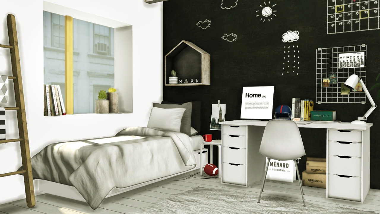 My Sims 4 Blog Scandinavian Style Boys Room By Mxims