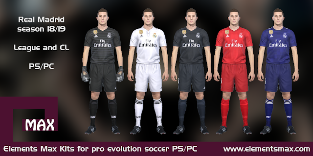 Real Madrid 18/19 pes kits