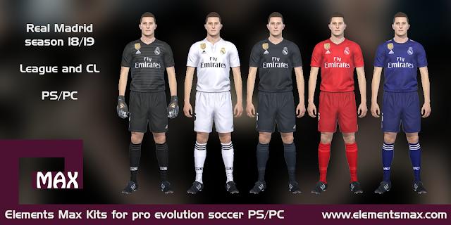 online store f222a 0f1e7 Elements MAX Kits: Real Madrid PES Kits 2018/19