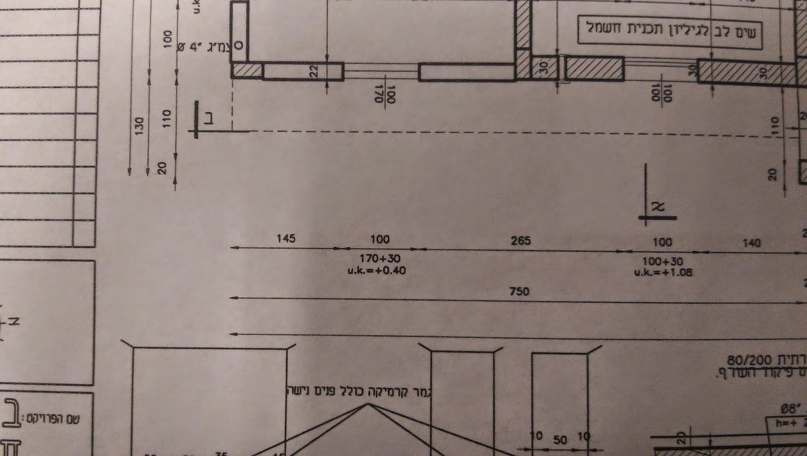 תוכנית אדריכלית - מידות כלליות