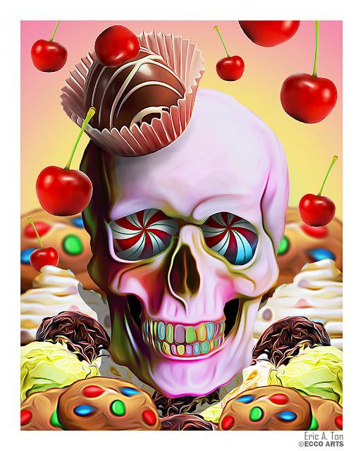 Art of the Day - EricTonArts www.toyastales.blogspot.com #skullart #EricTonArts #ToyasTales