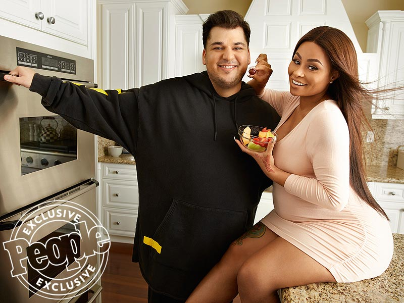 Rob Kardashian and his pregnant wife-to-be, Blac Chyna, cover People Magazine