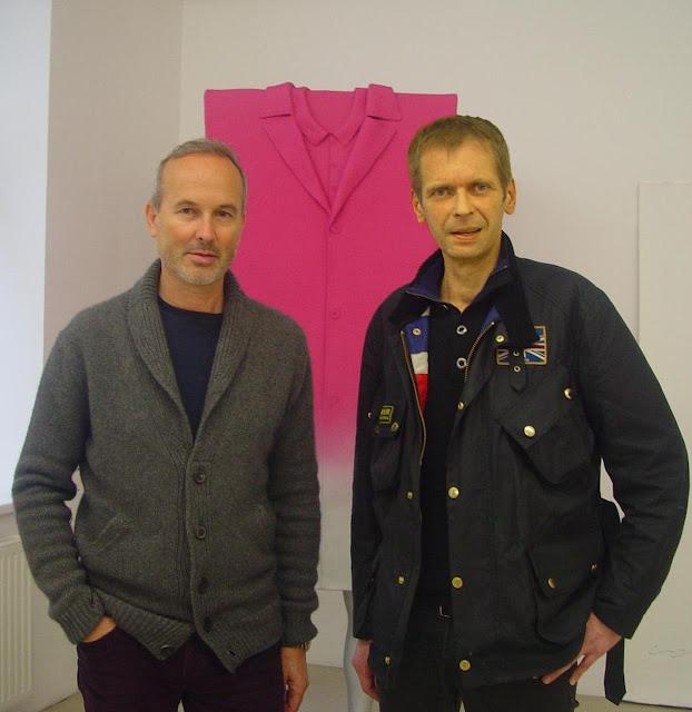 Erwin Wurm & Klaus Guingand - 2011 - Vienne - Autriche. Erwim Wurm studio. Muriel Bonel
