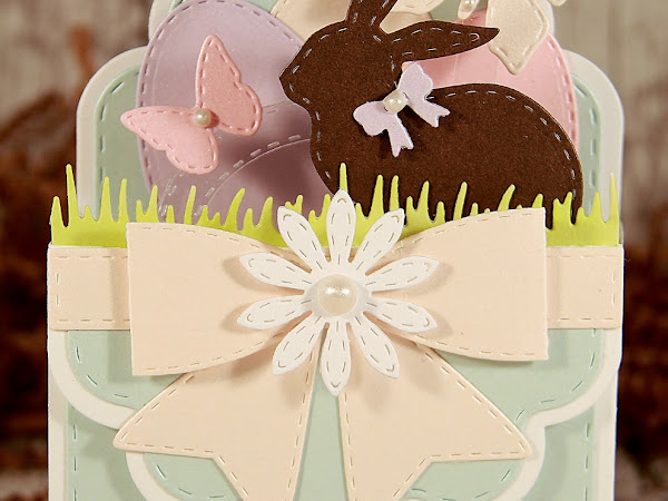 Happy Easter box card with Cut Card Stock!