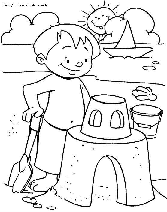 Estate disegno da colorare n 4 for Disegni da colorare estate