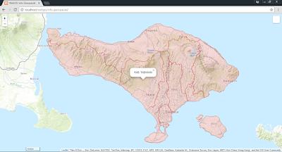 Tampilan WebGIS dengan basemap 1