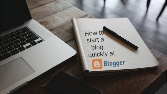 How to create a blog at blogger quickly for free?