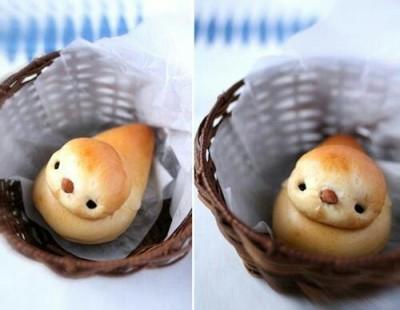 Roti bentuk burung dalam sarang