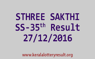 STHREE SAKTHI SS 35 Lottery Results 27-12-2016