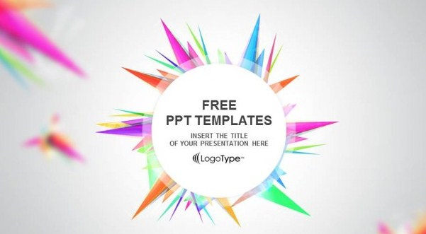 Abstact – Free Triangle-PPT Show Powerpoint Template