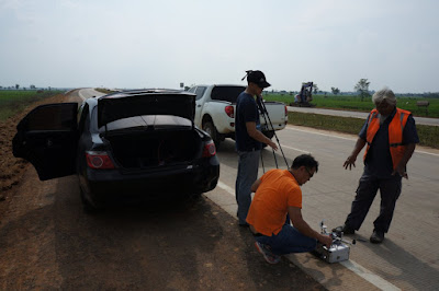Persiapan drone take off di Tol Cipali