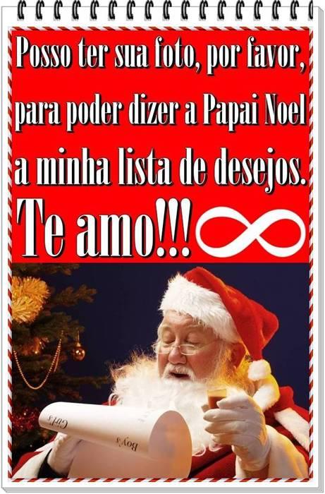 Papai Noel a minha lista de desejos