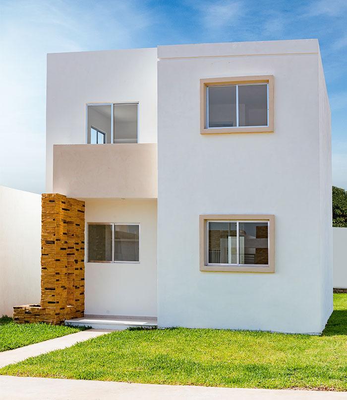 Fachadas mexicanas y estilo mexicano for Casas minimalistas planta baja