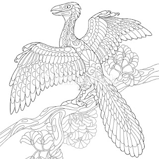 Archaeopteryx Dinosaur Coloring Pages Images