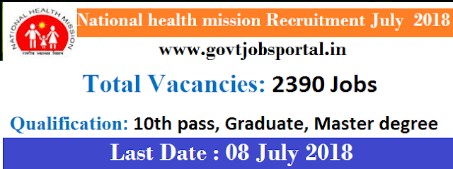 nrhm recruitment 2018