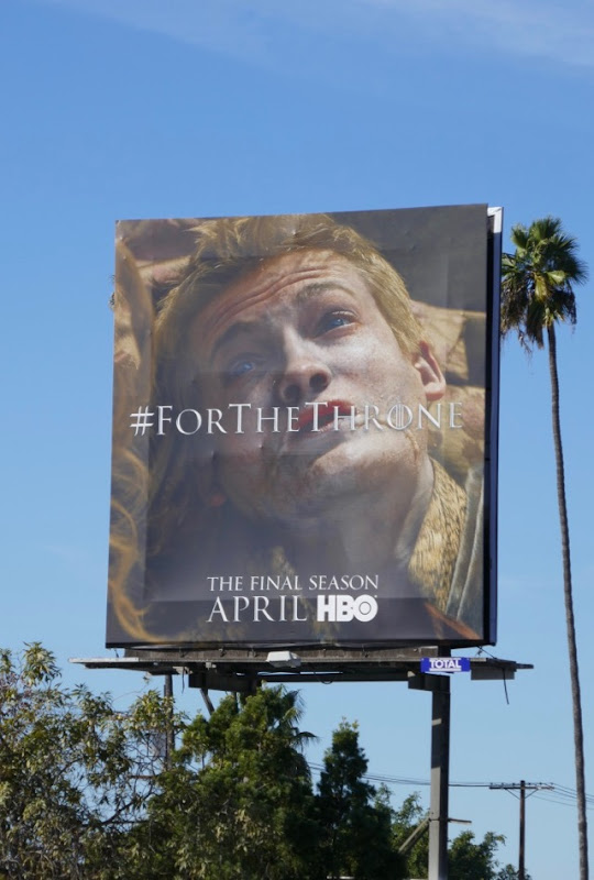 For the throne Joffrey GOT season 8 teaser billboard