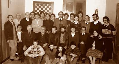 Equipo de ajedrez del Casal Catòlic de Sant Andreu en1980