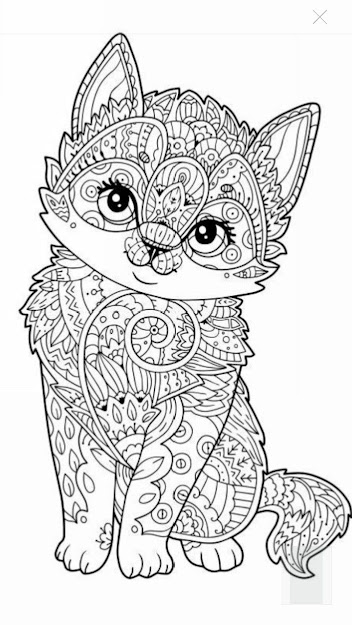 Cute Kitten Coloring Page More Coloring Pages For Adultscolouring