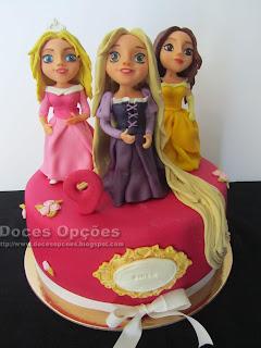 Bolo de aniversário Princesas Disney