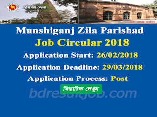 Munshiganj Zila Parishad Job Circular 2018
