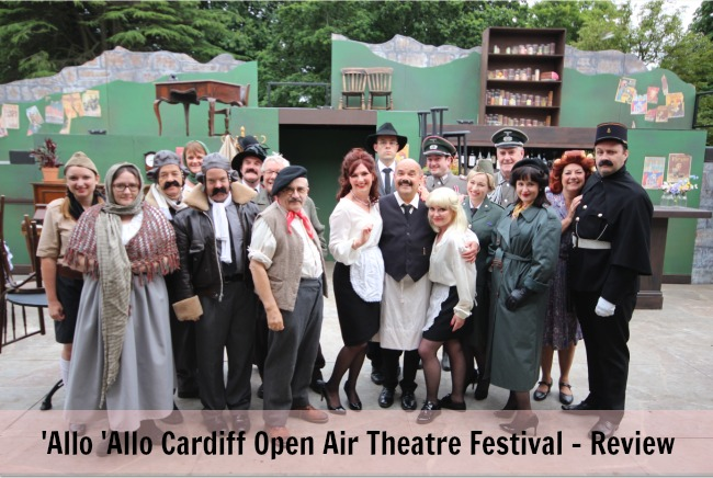 'Allo-'Allo-Cardiff-Open-Air-Theatre-Festival-Review-text-over-cast