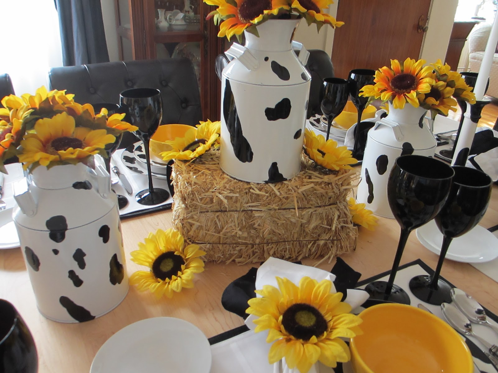 The Welcomed Guest Spotted Cow Tablescape