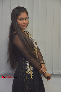 Tamil Actress Shreya Sri Stills in Black Akarkali Dress at Vanga Vanga Team Interview  0007.jpg