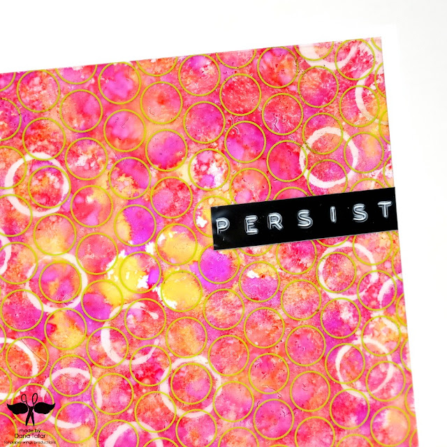 Persist Alcohol Ink Resist Card Closeup by Dana Tatar for Paper Wings Productions