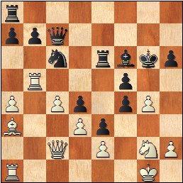 Partida de ajedrez Romà Bordell vs Lev Polugaevsky, Uppsala 1956, posición después de 26…gxf4?