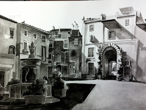 06-Malisa-Suchanya-Enchanting-Architectural-Drawings-of-Viterbo-Italy-www-designstack-co
